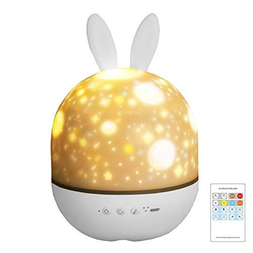 BORKA最新版Bluetooth スタープロジェクターライト プラネタリウム家庭用 星空ライト 音楽再生 リモコン付き 投影ランプ スターナイトライト 寝かしつけプロジェクターベッドサイドランプ 6種類投影フィルム 360度回転 USB充電 子供家族友人