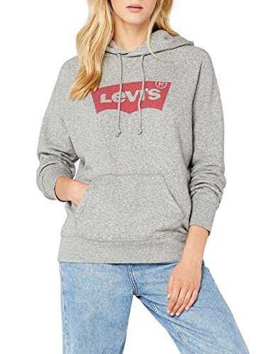 Levi's Damen Graphic Sport Pullover, Hoodie Housemark Smokestack Htr, XXS