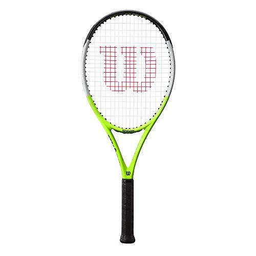 Wilson Blade Feel RXT 105 Raqueta de tenis para uso recreativo, Grafito/Compuesto, Verde/gris/negro, WR054710U3