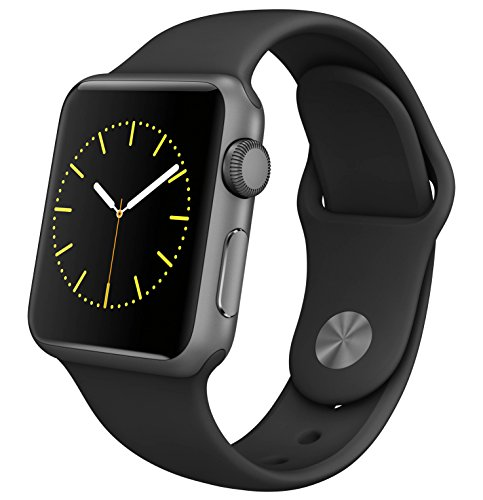 Apple Watch Series 1 Smartwatch 42mm, Space Gray Aluminum Case/ Black Sport Band (Newest Model)...