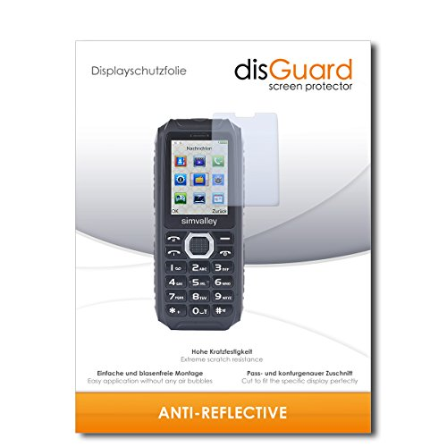 disGuard® Bildschirmschutzfolie [Anti-Reflex] kompatibel mit Simvalley Mobile XT-690 [2 Stück] Entspiegelnd, Matt, Antireflektierend, Extrem Kratzfest, Anti-Fingerabdruck - Panzerglas Folie, Schutzfolie