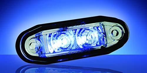 BOREMAN - 24V - Lámpara LED FLUSH FIT FIT BLUE Número de pieza: 1001-3005-B