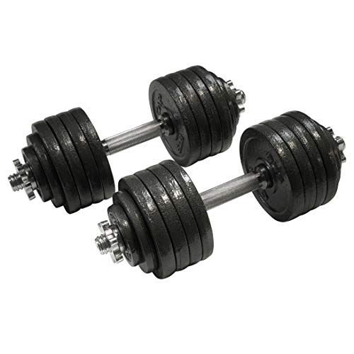 CAP Barbell 105-Pound Adjustable Dumbbell Weight Set
