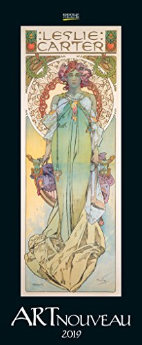 Art Nouveau 204919 2019: Kunstkalender mit Jugendstilplakaten der Belle Époque. Wandkalender im Hochformat: 28,5 x 69 cm, Foliendeckblatt