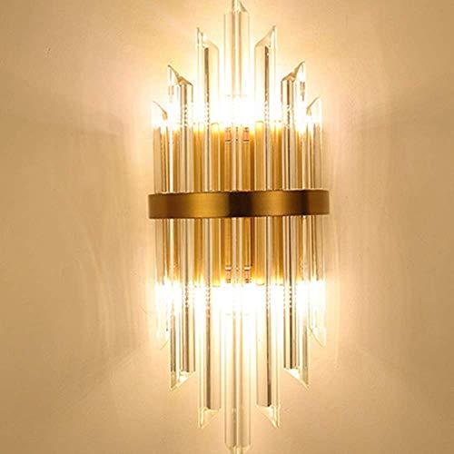 Lámpara de pared moderna minimalista de lujo de cristal y metal, iluminación de 3 a 8 metros cuadrados, dormitorio, comedor, salón, sala de estudio, sala de estar