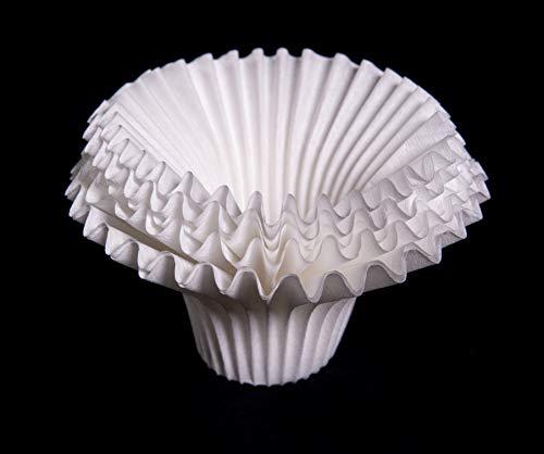ESPRO Papierfilter (100 Stk.) für Dauer-Kaffeefilter Bloom, Edelstahlfilter für Pour Over Kaffee, weiß