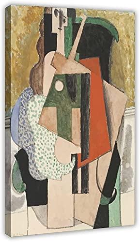 Obra de arte para el hogar 50x70cm sin marco Mujer en sillón Picasso Póster de lienzo Arte de la pared Decoración Impresión de imágenes Pinturas para la decoración del dormitorio de la sala de estar