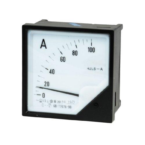 Aexit Klasse 1,5 Genauigkeit AC 0-100A Rechteckige Skala Analoges Messgerät Amperemeter (d3c792f16e845bb474305c73804ecc07)