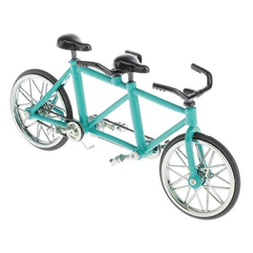 CUTICATE 1:16 Fahrradmodell Miniatur Legierung Tandem Fahrrad Modell, Tolles Geschenkidee für Fahrradfahrer - Blau