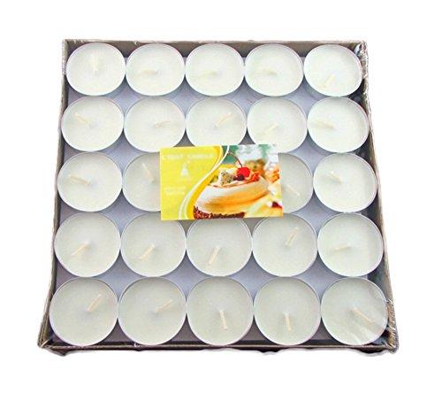 iTemer Kerzen/Teelichter, 50 Stück, einfarbig, 100 Stück für Votivkerzen, Weihnachten, Partys weiß