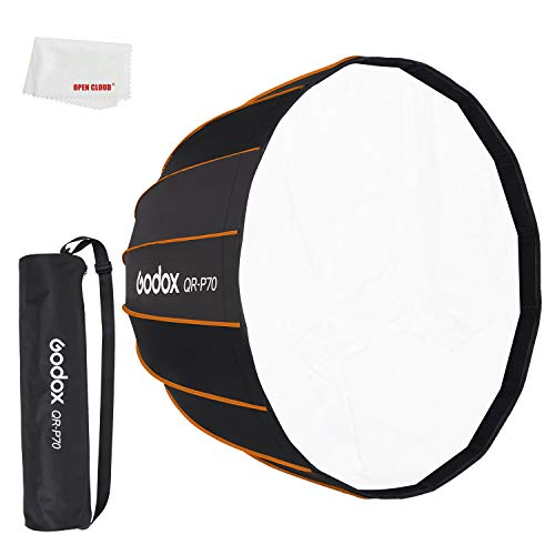 Godox QR-P70 70CM QR-P90 90CM QR-P120 120CM Parabolische Deep Softbox mit Schnellverschluss für Bowens Mount Studio Flash (Godox QR-P70)
