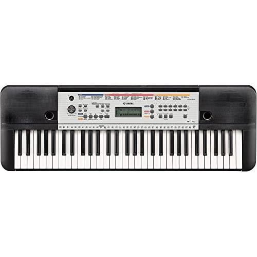 Yamaha Digital Keyboard YPT-260, Tastiera Digitale Portatile con 61 Tasti Ottima per Principianti, Design Compatto e Leggero, Facile da Usare e Trasportare, Nero