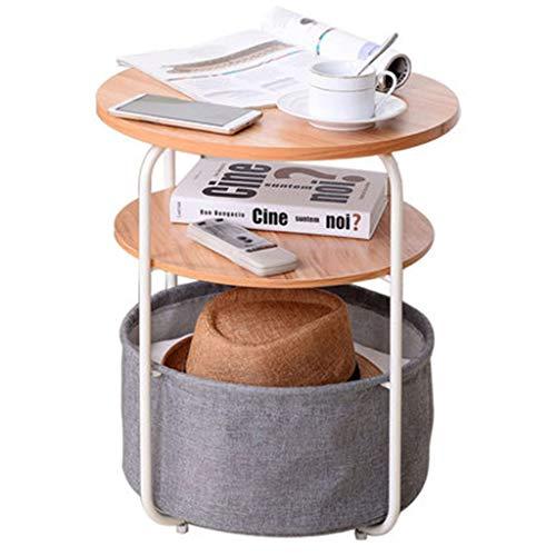 Tables basses Meuble D'appoint Canapé Meuble D'appoint en Fer Forgé Salon Téléphone Table D'appoint d'angle Petite Table Ronde Cadeau (Color : Gray, Size : 42 * 42 * 51cm)