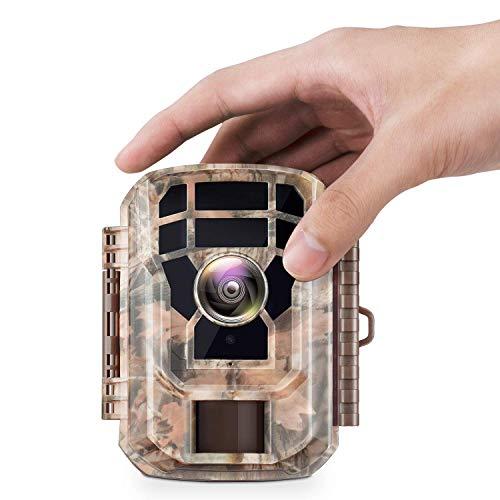 Campark Mini Wildkamera 16MP 1080P HD mit Bewegungsmelder Nachtsicht Wildlife Jagdkamera Wildtierkamera mit 120° und 2.0