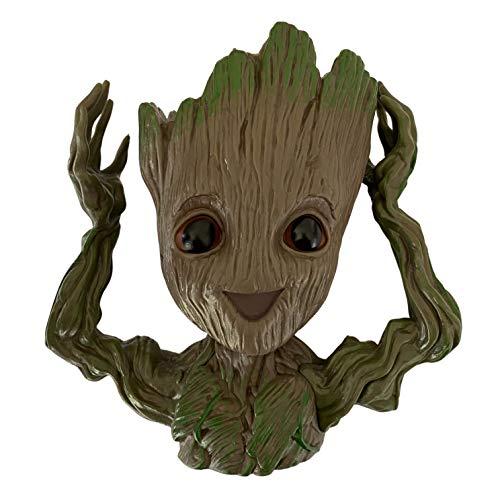 Pot de fleurs décoratif Groot - Effet bois - Grand modèle