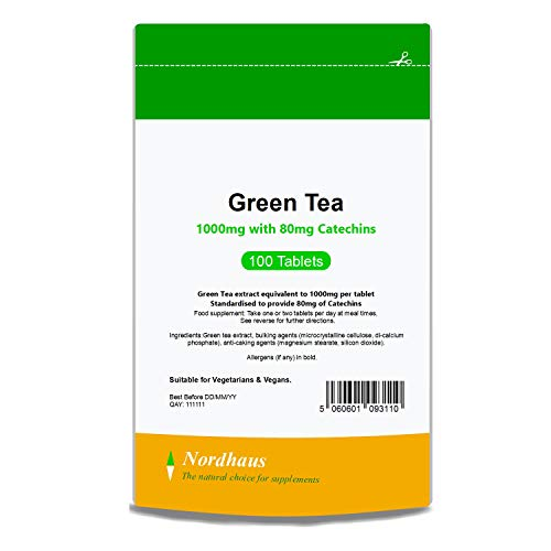 Green Tea Tablets 1000mg - 100 Tablets