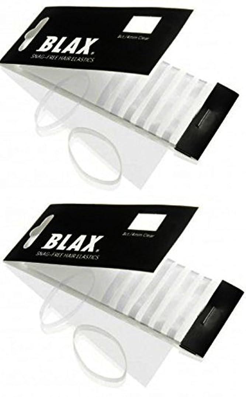 Blax CLEAR Snag-Free Hair Elastics 4mm, 8 Count (2-Pack)