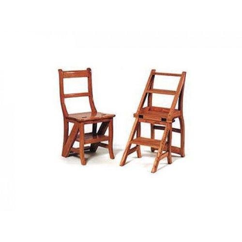 Leiterstuhl Leiter Stuhl Teakholz massiv, geölt Küchenstuhl Küche