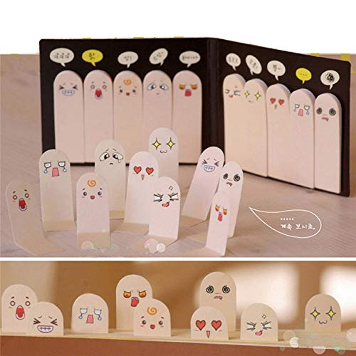 1Pcs 200 Pages Kawaii Unique Scrapbooking Ten Fingers Sticker Bookmark Tab Flags Memo Book Marker Sticky Notes Office Stationery