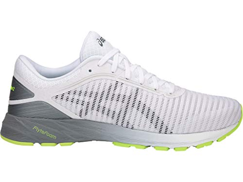 ASICS Men's Dynaflyte 2 Running Shoes, 12M, White/Black/Stone Grey