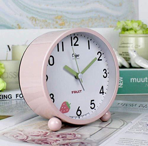 Creative Bedside Klok Weinig Leuk wekker schattig meisje slaapzaal Kamer en Studie meisje hart Kidswith minimalistische klok lichtgevende mute horloge