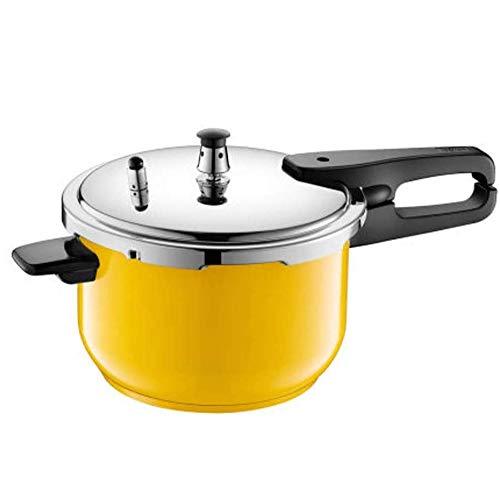 YFGQBCP Robot Cocina De Gran Capacidad de presión de Acero Inoxidable Olla Arrocera Sopa de cocido Cocina de Gas del hogar Cocina de inducción Amarillo (Tamaño: 24 cm)