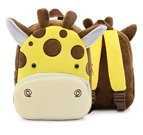 Cute giraffe Kids Backpacks Plush kindergarten Schoolbag 3D Cartoon Preschool Toddler Children Backpack Children School Bags for 2-6 Years Old Girls /Boys Animal Backpacks