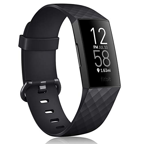 Oumida - Correa para Fitbit Charge 3 / Fitbit Charge 4 - Correa ajustable clásica deportiva de repuesto compatible con Fitbit Charge 3 / Fitbit Charge 4 (negro, pequeña)