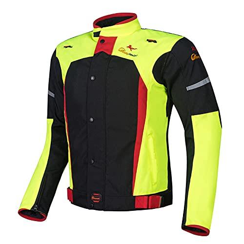 LALEO Motos Ropa Protectora Chaqueta de Moto para Motocicleta, con Forro Desmontable Resistente al Viento y Transpirable Ropa de Motocicleta, para Hombre