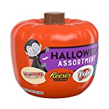 HERSHEY'S Halloween Candy Variety Mix, Pumpkin Bowl for Halloween Decorations, (REESE'S, KIT KAT, WHOPPERS, JOLLY RANCHER), 37.4 oz