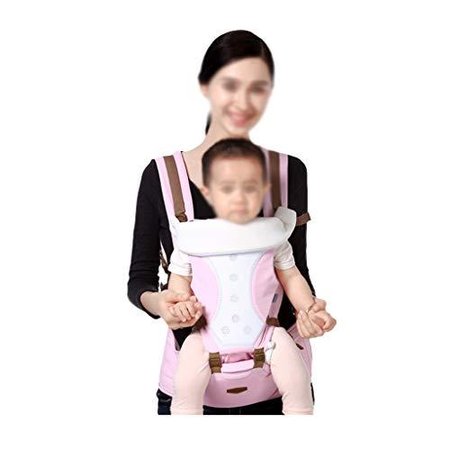 TMY Portabebé 0-30 Meses Respirable Cómodo Bebés Niños Portador Mochila Infantil Asiento de Cadera Bebé Taburete de Cintura (Color : Pink)