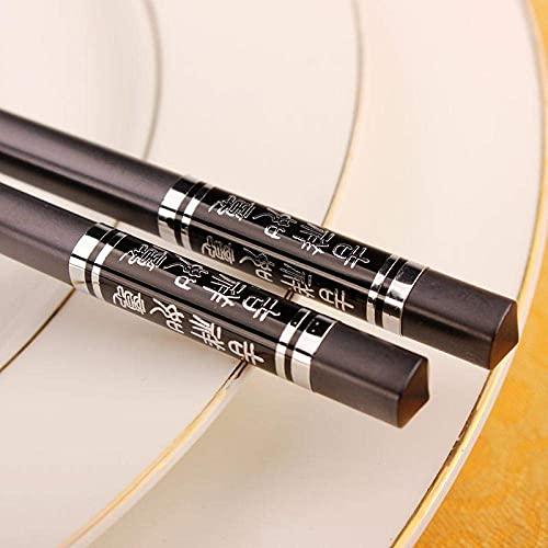 chop stix 10 paren glasvezel eetstokjes, chinese eetstokjes herbruikbare legering eetstokjes, anti-slip kwaliteit Sushi eetstokjes - vaatwasser veilig-zilver (Color : Silver)