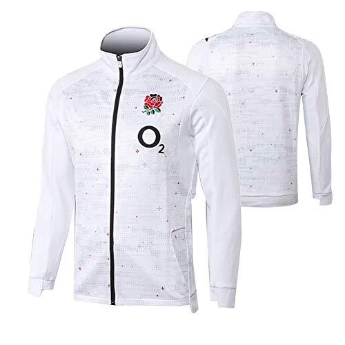 Rugby-Trikot, 2019 England Rugby-Jacke, Langarm-Rugby-Shirt, Herren Professional Rugby-Trikot, Bestes Geburtstagsgeschenk-L