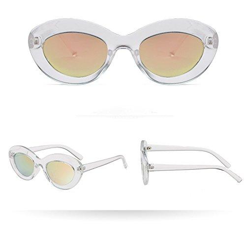 Wobang Gafas de sol clásicas vintage, para mujeres, cuadradas, lujosas, transparentes, antirrayos UV, gafas de sol, gafas de protección para hombres y mujeres, retro, baratas 638 Talla única