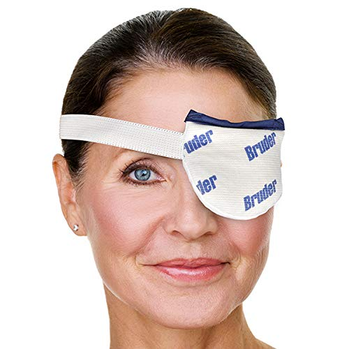 Bruder Moist Heat Eye Compress | Single Eye | Effective Relief for Painful Styes and Chalazion