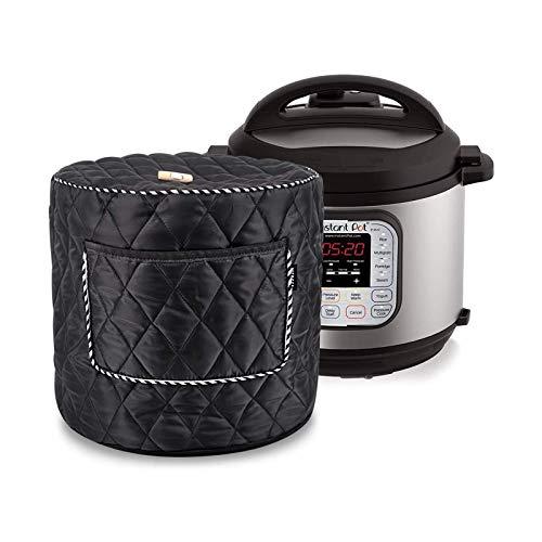 Schnellkochtopf-Staubschutz, wasserdicht und langlebig, wiederverwendbare Schutzhülle mit Tasche und Griff oben, für 6 Qt Instant Pot/Reiskocher (schwarz)