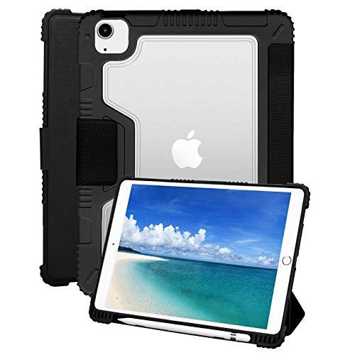 KANNIL Funda para iPad Air 4 10.9 2020 / iPad Pro 11 funda 2020 2018, soporte magnético resistente a los golpes 360 ° cubierta protectora con soporte para lápiz, encendido y apagado automático