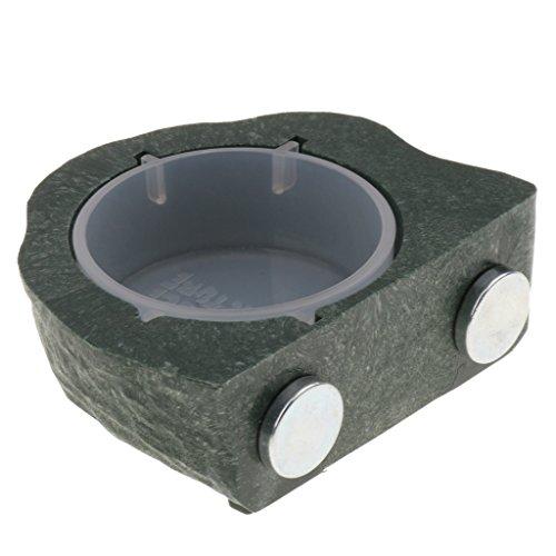 amagogo Magnetische Reptilien Wassernapf Futternapf Badeschale Futternapf Für - Grün