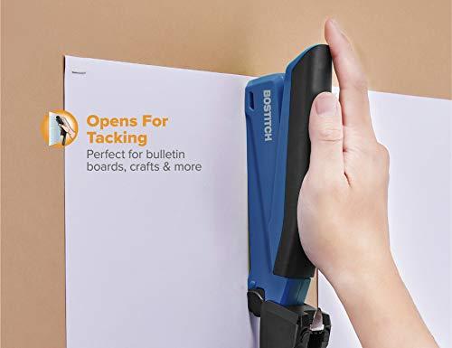 Bostitch Office Executive Stapler - 3 in 1 Stapler - One Finger, No Effort, Spring Powered Stapler, Navy Blue Photo #3