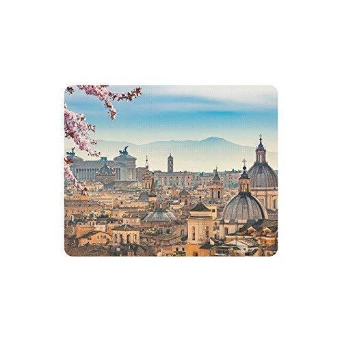 Schöne europäische Stadtbild Ansicht von Rom von Castel Sant 'Angelo Rechteck Computer Mouse Pad Gaming Mousepad Mat