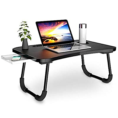 Veramz Laptop Desk for Bed, Laptop Bed Tray Table,Notebook Standing with Foldable Legs,Couch Table, Bed Desk,Reading Desk for Sofa (Balck)