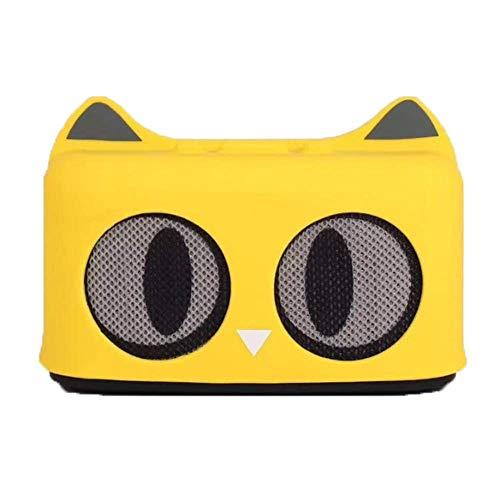 LDQLSQ Tragbarer Lautsprecher Bluetooth-Box Freisprechen Wasserdicht Cartoon Cat Tragbarer Subwoofer Mini Drahtloser Bluetooth Lautsprecher,Yellow