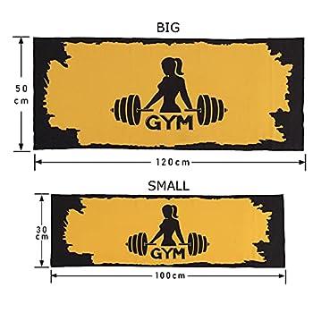 NADIAK Serviette de sport, serviette en microfibre pour homme et femme, sport, fitness, gym fabriqué en Italie