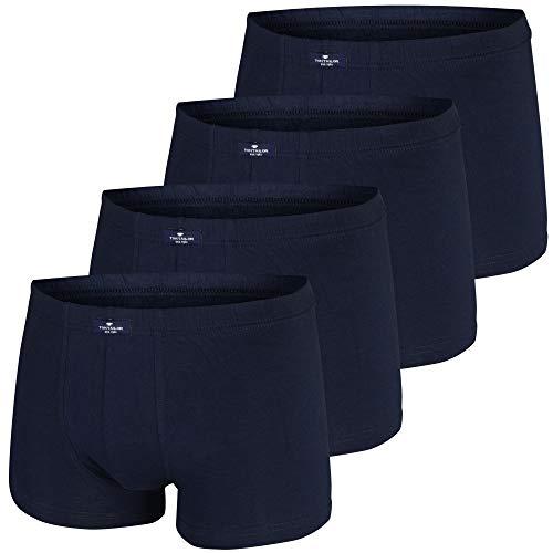 TOM TAILOR Herren Boxershorts Pants | 4 Stück in Dose (XXL | 8, 4 x Navy)