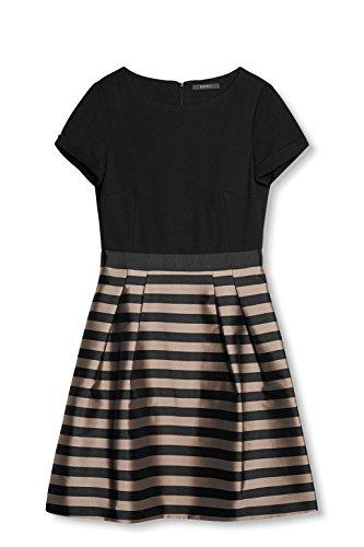 ESPRIT Collection Damen Kleid 027EO1E018, Schwarz (Black 2 002), 40