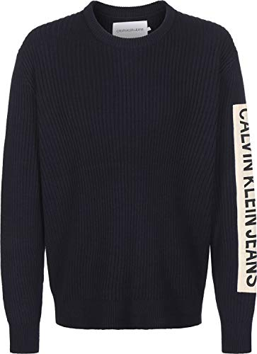 Calvin Klein Jeans Ribbed Sleeve Patch gebreide trui