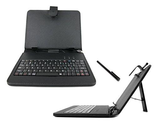 DURAGADGET Custodia Tastiera Nera per Tablet di 8  - 220 x (da 110 Fino 132 mm)- Connessione microUSB + Pennino Capacitivo - Alta qualità - 2 Anni di Garanzia