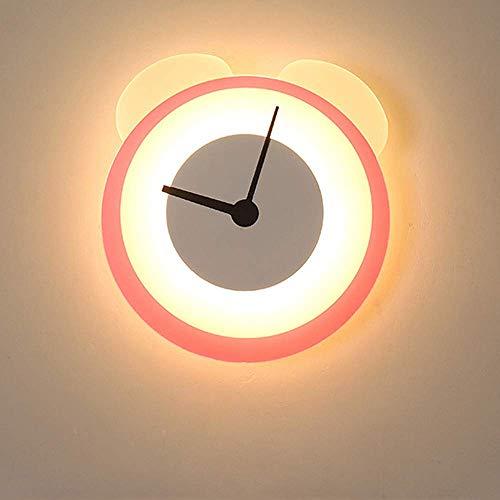 XXLYY Horloge Lumière Appliques Murales Intérieur LED Creative Bande Dessinée Veilleuse Enfants Chambre Lumières Applique Murale Chambre D'enfants Lumière Décorative dans Panneaux D'éclairage Applique