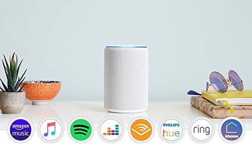 Amazon Echo (3ª generazione) - Altoparlante intelligente con Alexa - Tessuto grigio chiaro