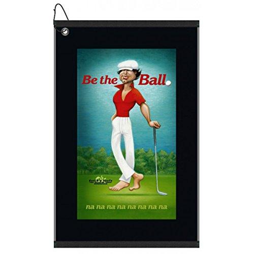 Devant Ty Webb Be The Ball Golf Towel, Black, 16x25